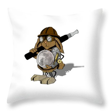 Steam Rabbit Throw Pillow