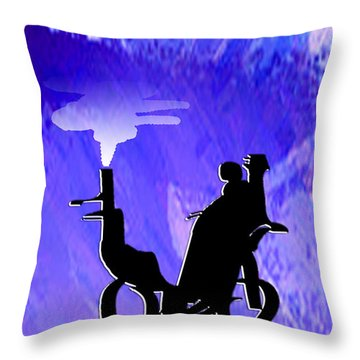 Steam Rikshaw Throw Pillow by Asok Mukhopadhyay