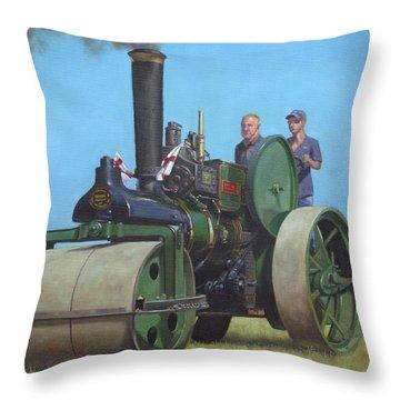 Steam Tractor Throw Pillows