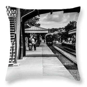 Steam Train In The Station Throw Pillow