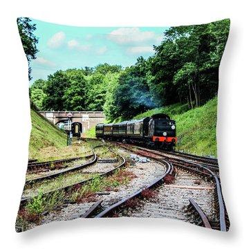 Steam Train Nr The Bridge Throw Pillow