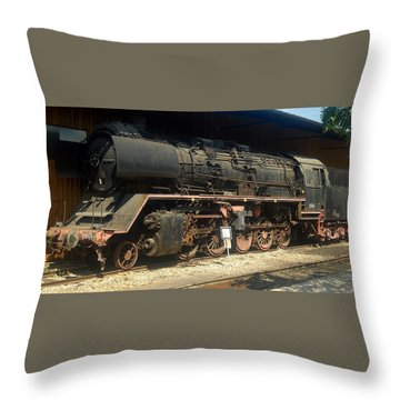 Steam Train  Throw Pillow by Pierre Van Dijk