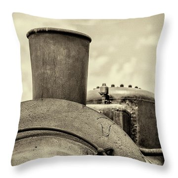Throw Pillow featuring the photograph Steam Train Series No 2 by Clare Bambers