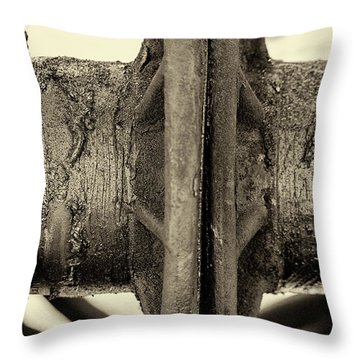 Throw Pillow featuring the photograph Steam Train Series No 31 by Clare Bambers