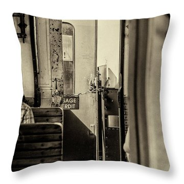 Throw Pillow featuring the photograph Steam Train Series No 33 by Clare Bambers