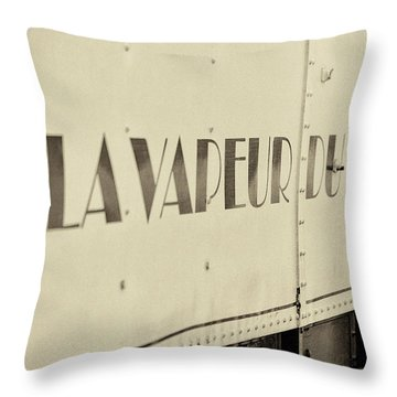 Throw Pillow featuring the photograph Steam Train Series No 34 by Clare Bambers