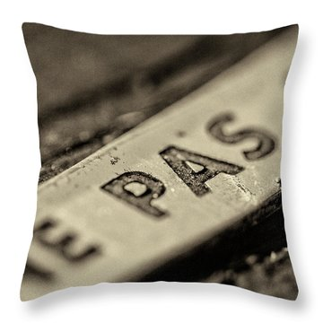 Throw Pillow featuring the photograph Steam Train Series No 35 by Clare Bambers