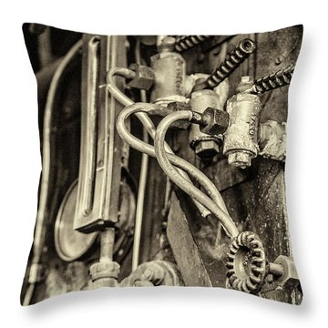Throw Pillow featuring the photograph Steam Train Series No 36 by Clare Bambers