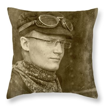 Throw Pillow featuring the photograph Steam Train Series No 37 by Clare Bambers