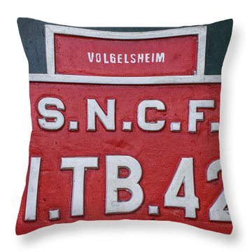 Throw Pillow featuring the photograph Steam Train Series No 38 by Clare Bambers