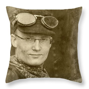 Throw Pillow featuring the photograph Steam Train Series No 39 by Clare Bambers