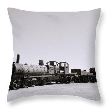 Steam Trains Throw Pillow by Shaun Higson
