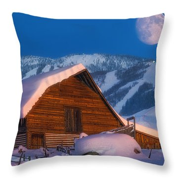Steamboat Dreams Throw Pillow