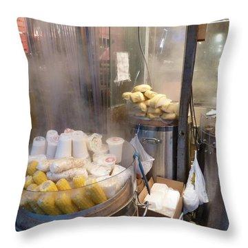 Steamed Dumplings Throw Pillow
