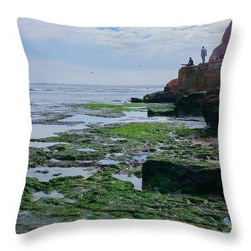 Steamer Lane Santa Cruz Throw Pillow