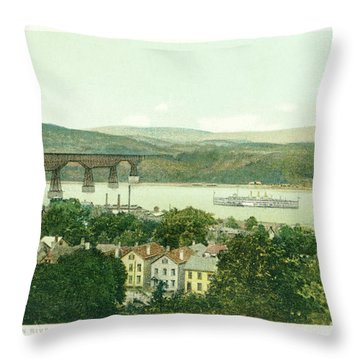 Steamers Waterfront And Ferrys - 07 Throw Pillow