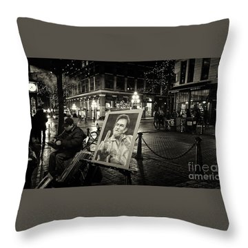 Steamin' Johnny Throw Pillow