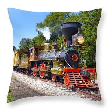 Steaming Into History Throw Pillow by Paul W Faust -  Impressions of Light