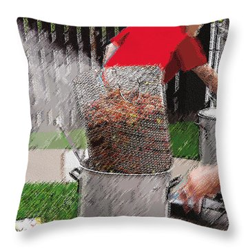 Steaming Mud Bugs For Falvor Throw Pillow