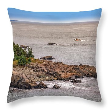 Throw Pillow featuring the photograph Steaming Through Quoddy Narrows by Rick Berk