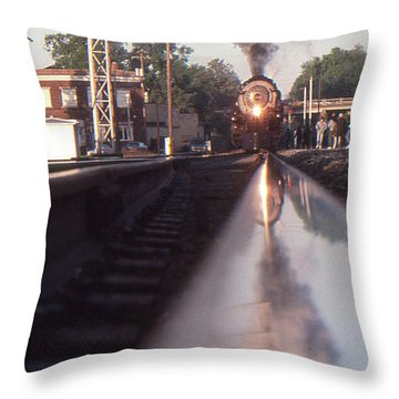 Steaming Up Throw Pillow by Gordon Mooneyhan