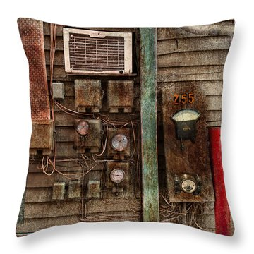 Steampunk - The Future  Throw Pillow by Mike Savad