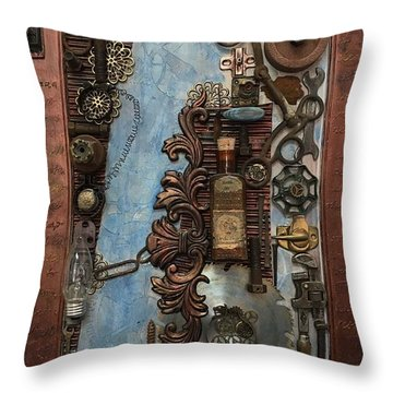 Steampunk 1 Throw Pillow