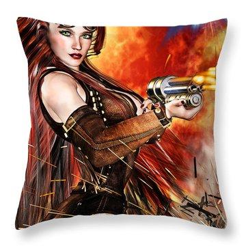 Steampunk Apocalypse Throw Pillow