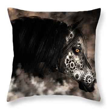 Steampunk Champion Throw Pillow