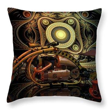 Throw Pillow featuring the photograph Steampunk Chopper by Louis Ferreira