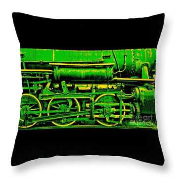 Steampunk Iron Horse No. 3 Throw Pillow
