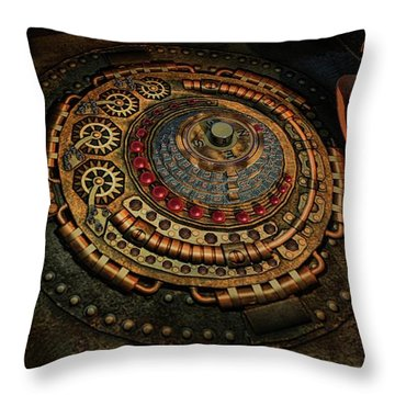 Throw Pillow featuring the photograph Steampunk by Louis Ferreira