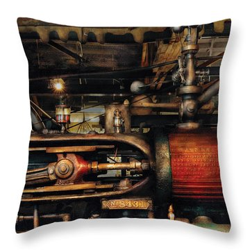 Steampunk - No 8431 Throw Pillow by Mike Savad
