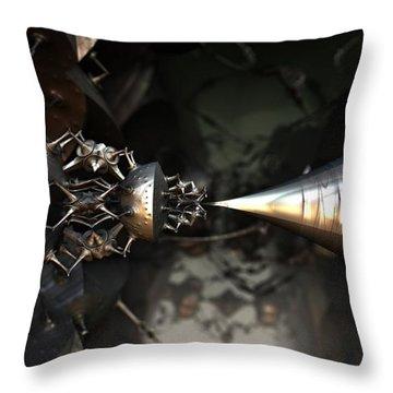 Steampunk Siren Throw Pillow