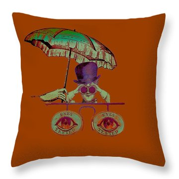Steampunk T Shirt Design Throw Pillow by Bellesouth Studio