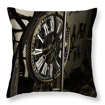 Steampunk - Timekeeper Throw Pillow by Paul Ward