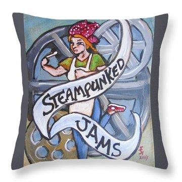 Steampunked Jams Throw Pillow by Loretta Nash