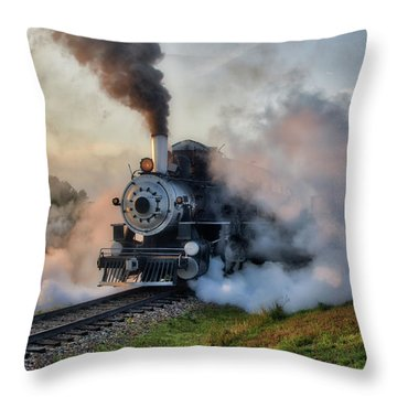 Steamy Departure Throw Pillow