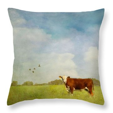 Throw Pillow featuring the photograph Steamy Hot Summer Days by Jan Amiss Photography