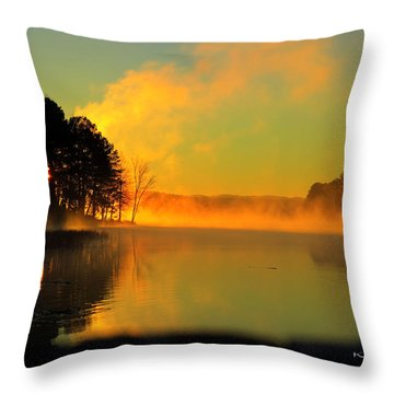 Steamy Sunrise Throw Pillow
