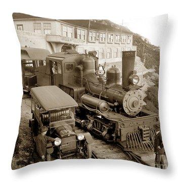 Stean Engine No. 8 Mount Tamalpais Circa 1920 Throw Pillow