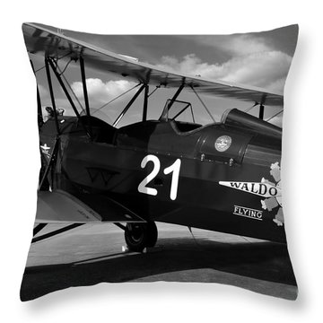 Stearman Biplane Throw Pillow by David Lee Thompson