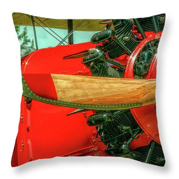 Stearman C3b Biplane Throw Pillow