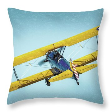 Throw Pillow featuring the photograph Stearman by James Barber