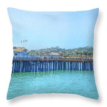 Stearns Wharf Throw Pillow