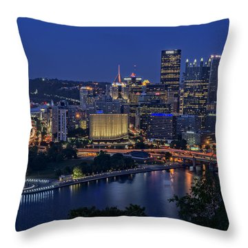 Steel City Glow Throw Pillow