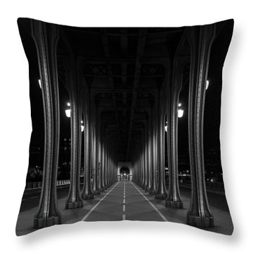 Throw Pillow featuring the photograph Steel Colonnades In The Night by Denis Rouleau