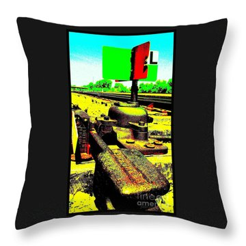 Steel Diesel Track Signal Throw Pillow