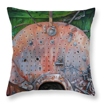 Steel Heart Throw Pillow