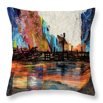 Steel Mills At Night Throw Pillow